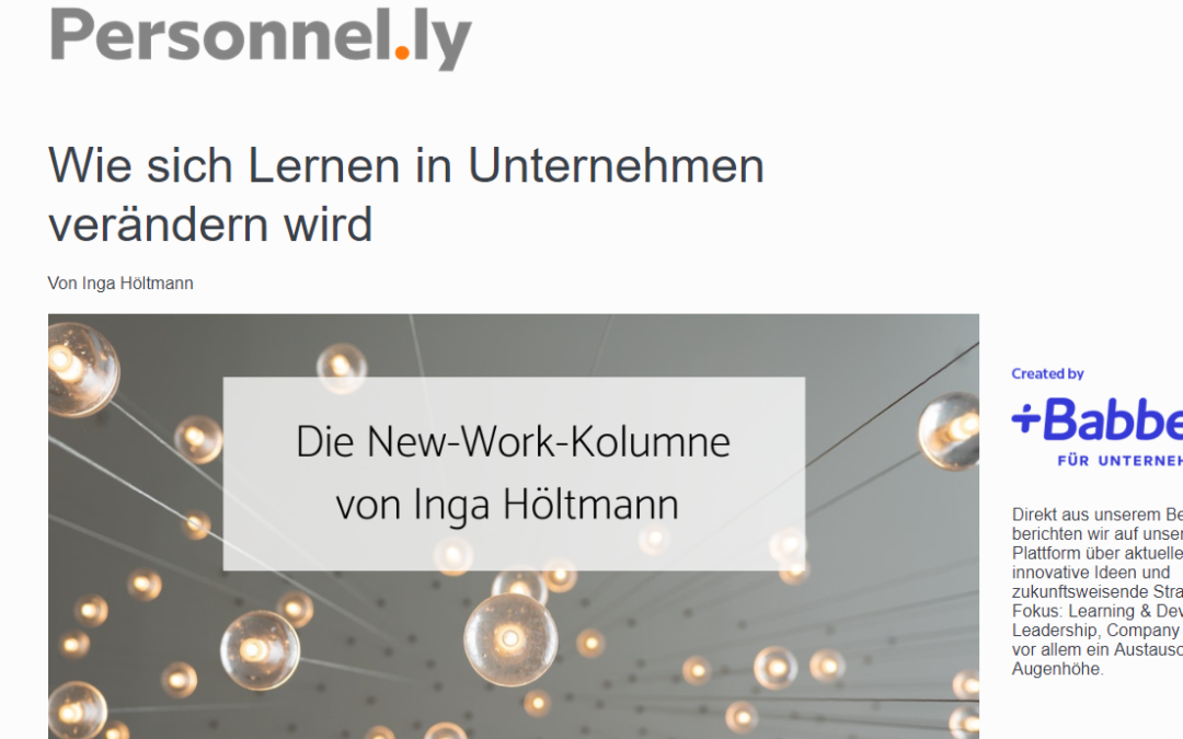 Die New-Work-Kolumne bei Personnelly