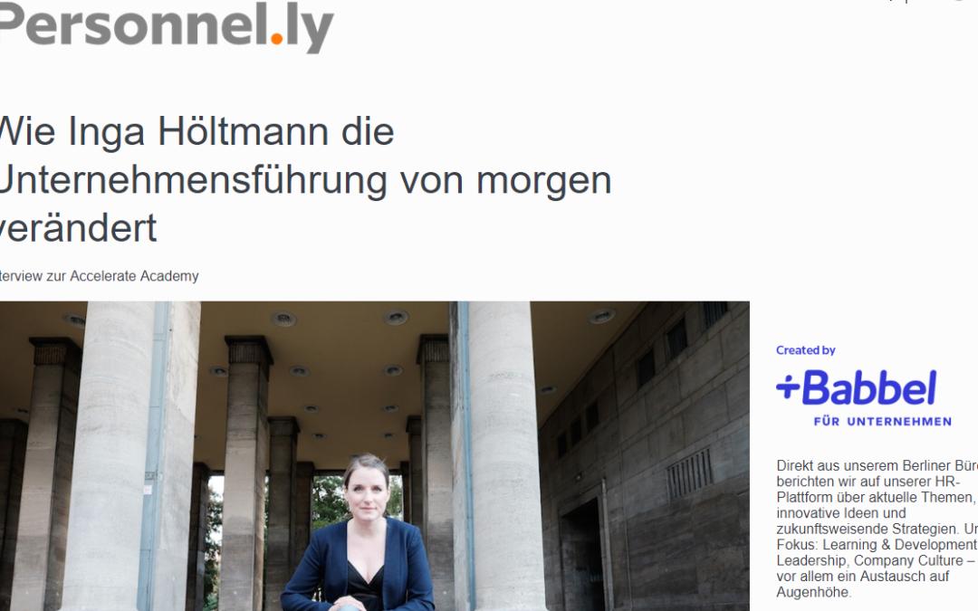 Interview bei Personnelly von Babbel