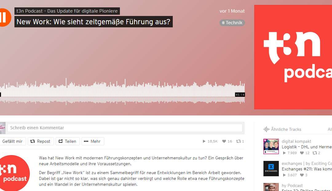 Screenshot: t3n auf Soundcloud