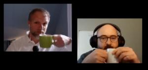 Virtuelles Meeting von Andreas Ollmann (l.) und David Cummins (r.) (Bild: Promo)